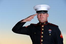 Roadside IED Marine_salute